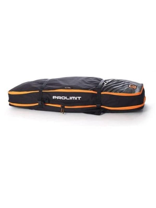 Prolimit Kitesurf Board Bag Global Twin Tip Combo – Black Grey Orange – 140 x 45cm