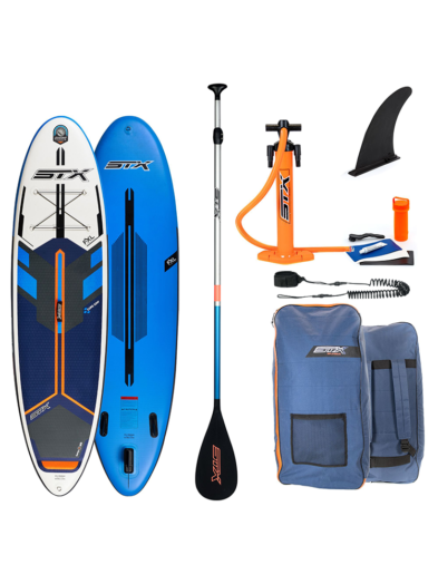 "2021 STX 10'6""X 32"" Freeride SUP Blue/ Orange - Inflatable Paddleboard Package"