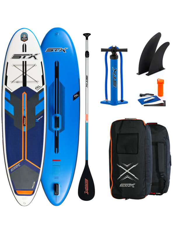 STX 11'6 iSUP FREERIDE Hybrid Windsurfable SUP Blue Black Orange