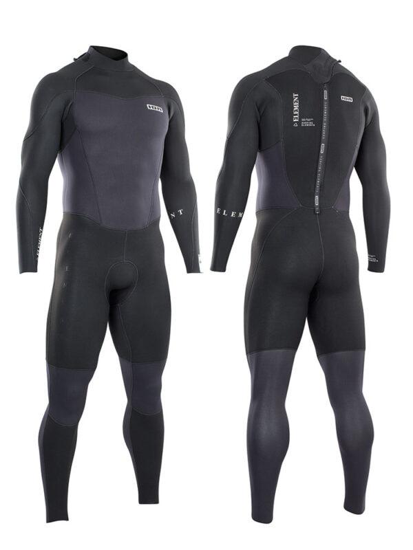 2021 ION Element 3/2mm Backzip Mens Wetsuit – Black 48212-4447