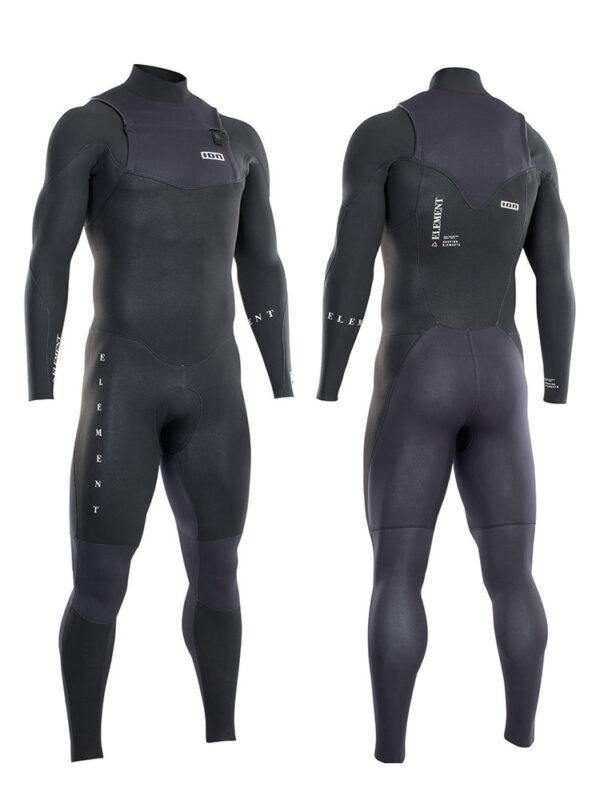 2021 ION Element 3/2mm Front Zip Mens Wetsuit – Black 48212-4488