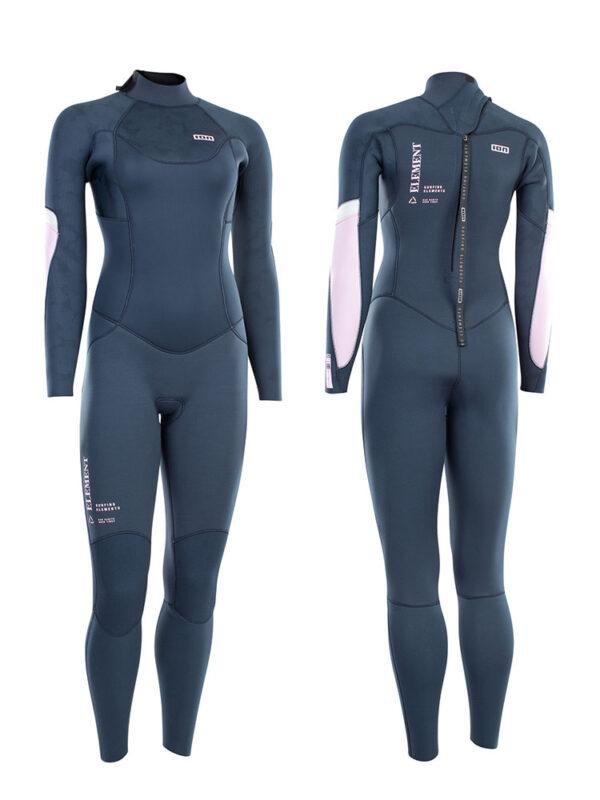 2021 ION Element 4/3mm Back Zip Womens Wetsuit – Dark Blue 48213-4516
