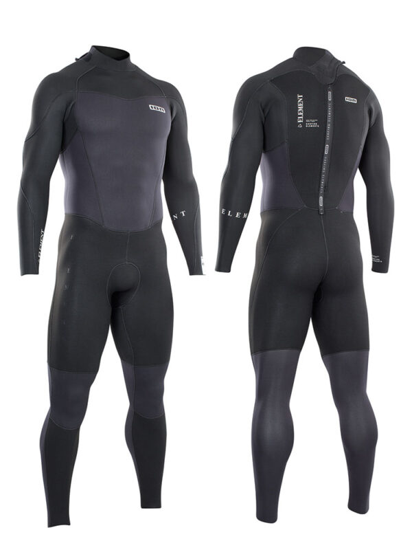 2021 ION Element 5/4mm Back Zip Mens Wetsuit – Black 48212-4445