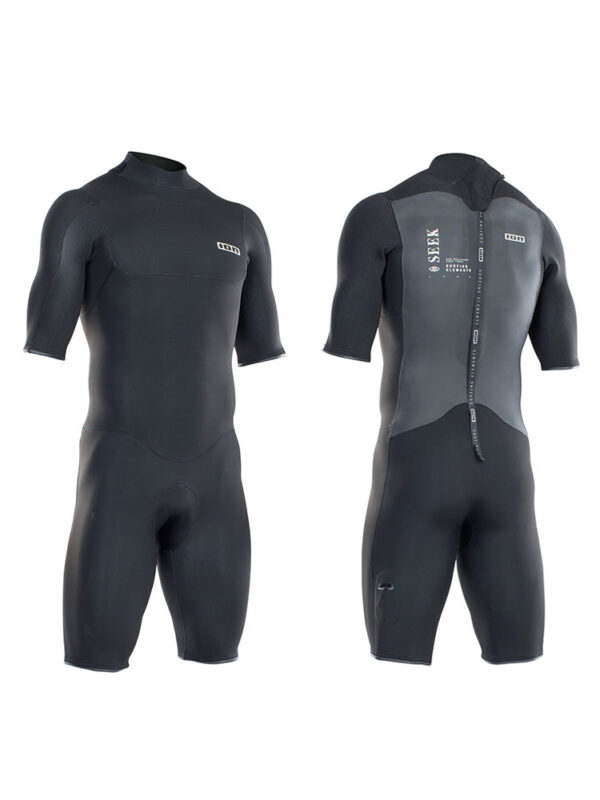2021 ION Seek Core Shorty 2mm Back Zip Mens Wetsuit – Black 48212-4431