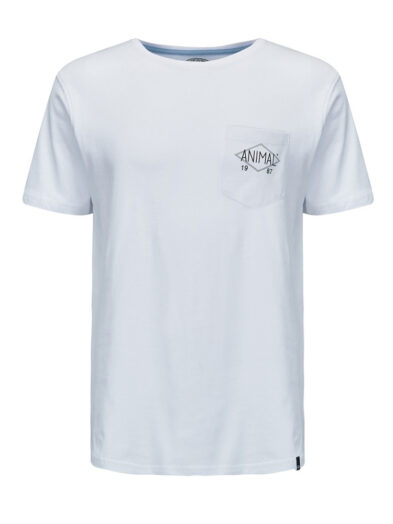 Animal Pocket Tee WHITE CL8SN045 Front