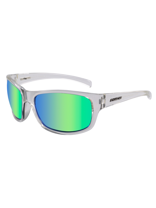 DIrty Dog Shock CLear Crystal / Green Fusion Polarised - 53509
