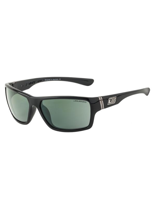 Dirty Dog Sunglasses Black Green Polarised