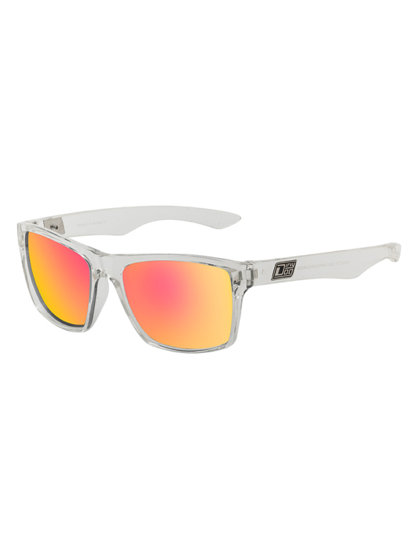 Dirty Dog Sunglasses Crystal Grey Red Fusion Mirror Polarised
