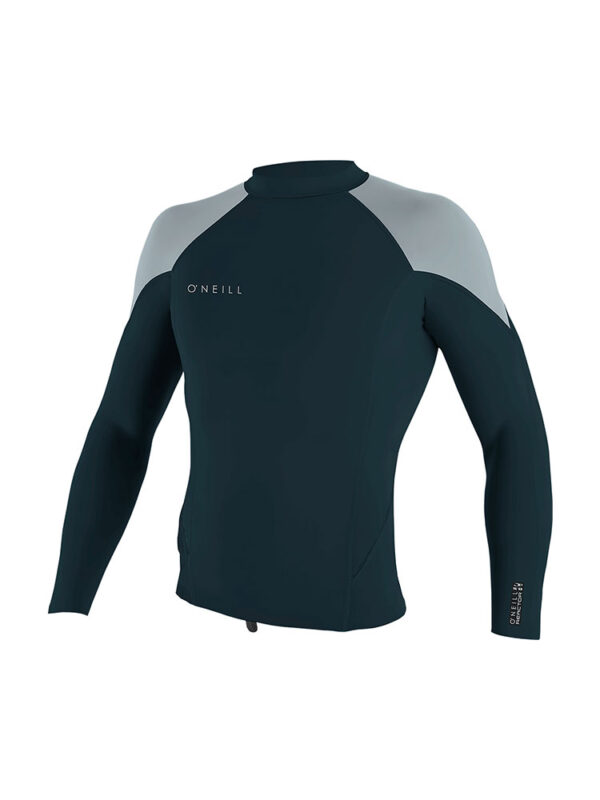 O'Neill Reactor 2 1.5mm Long Sleeve Wetsuit Neoprene Top – Slate/Cool Grey