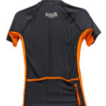 Oxbow J1SLIDE Rash Vest Black Orange Back