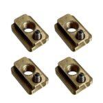 Brass Locking T-Nut Set of 4