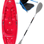 KOA Beach - Coral Red - Deluxe Back Rest Egalis Paddle Package