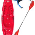 KOA Beach - Coral Red - Surf Back Rest Colt Junior Paddle Package