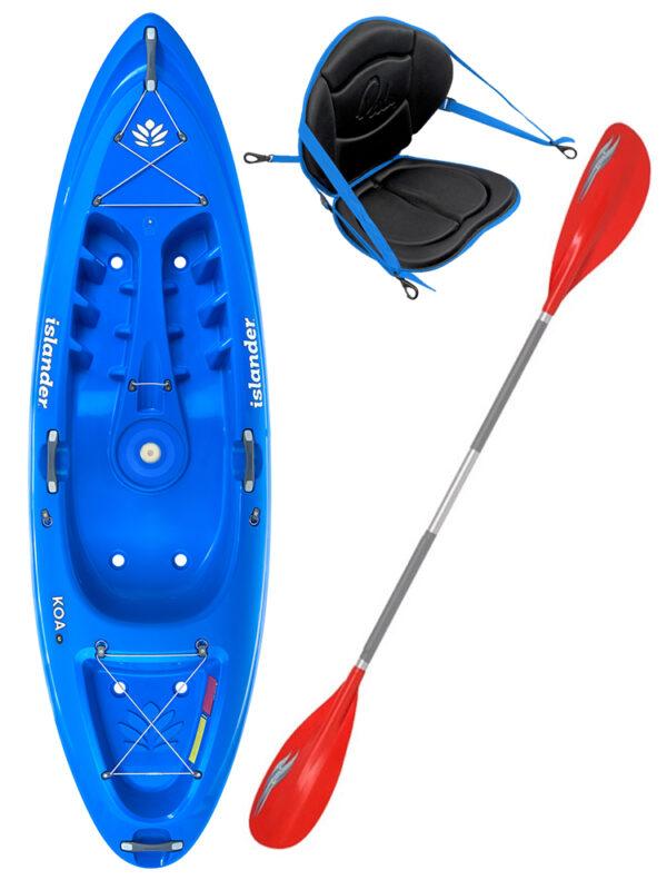 KOA Beach - Reef Blue - Deluxe Back Rest Colt Junior Paddle Package