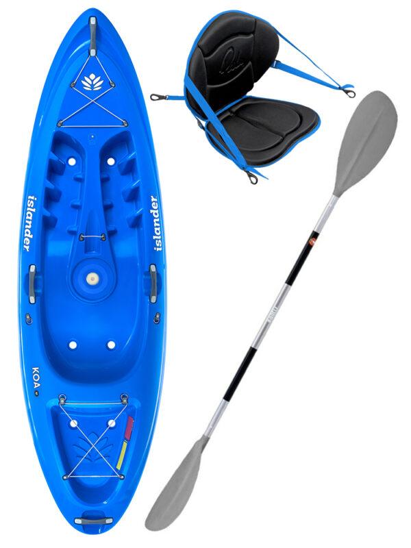 KOA Beach - Reef Blue - Deluxe Back Rest Egalis Paddle Package