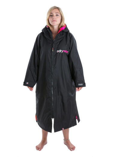 DryRobe Black-Pink - Front - Woman - Medium