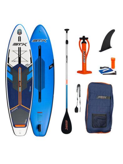 STX iSup Freeride 8ft paddleboard blue orange