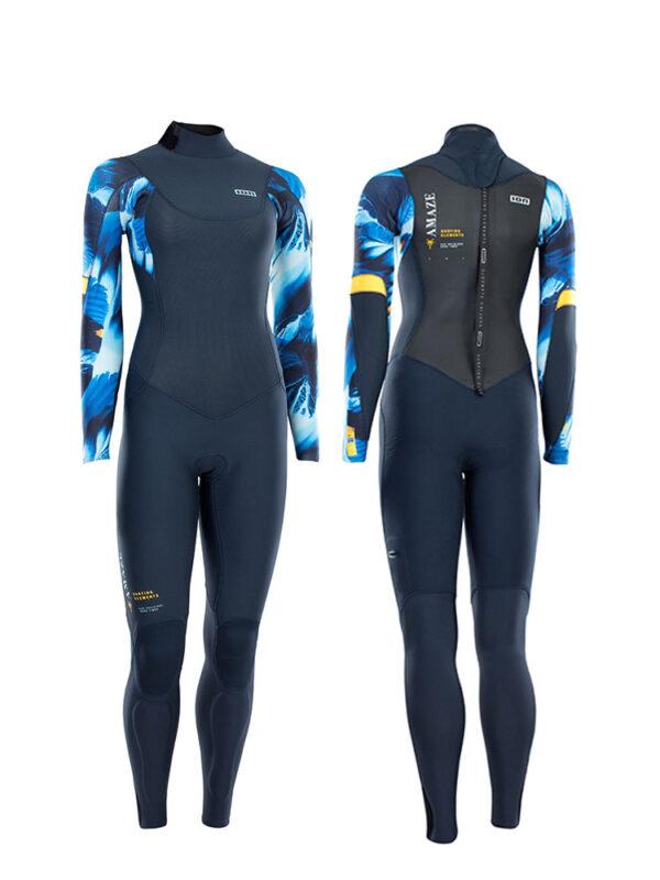 2021 ION Amaze Amp Semidry 5/4mm Back Zip Womens Wetsuit – Blue Capsule – 48213-4506