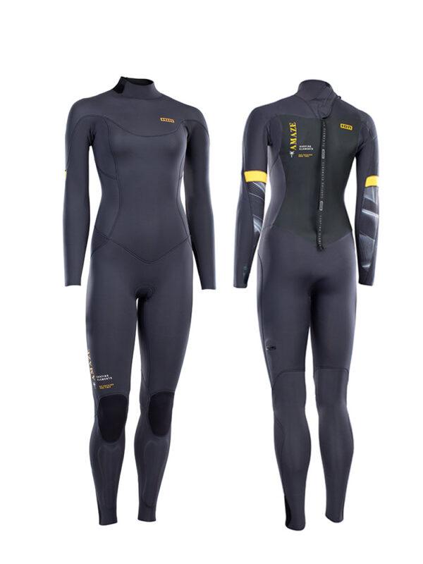 2021 ION Amaze Core Semidry 5/4mm Back Zip Womens Wetsuit – Steel Grey – 48213-4510