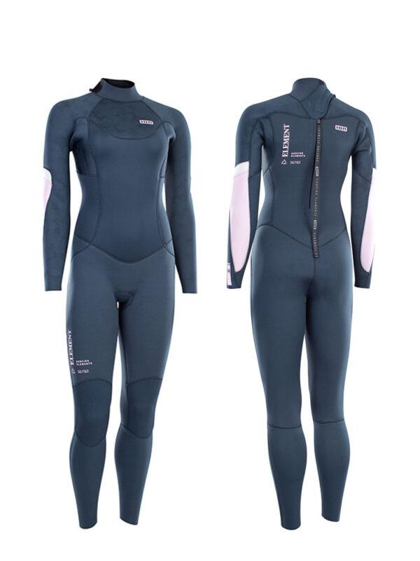 2021 ION Element 5/4mm Back Zip Womens Wetsuit – Dark Blue – 48213-4515