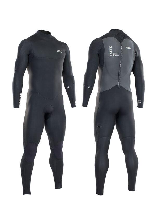 2021 ION Seek Core Semidry 5/4mm Back Zip Mens Wetsuit – Black – 48212-4425