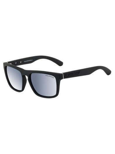 Dirty Dog Sunglasses - Monza - Satin Black Frame/ Grey Silver Polarised Lens 53417