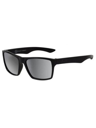Dirty Dog Vendetta Sunglasses - Satin Black Frame/ Grey Silver Lens - 53415