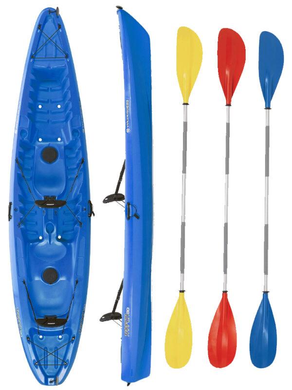 Tarpon 130 Tandem Kayak Blue With Drift Paddles